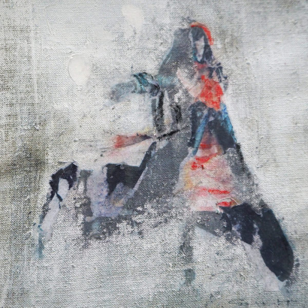 acryl auf leinwand - collage 20 x 20 cm