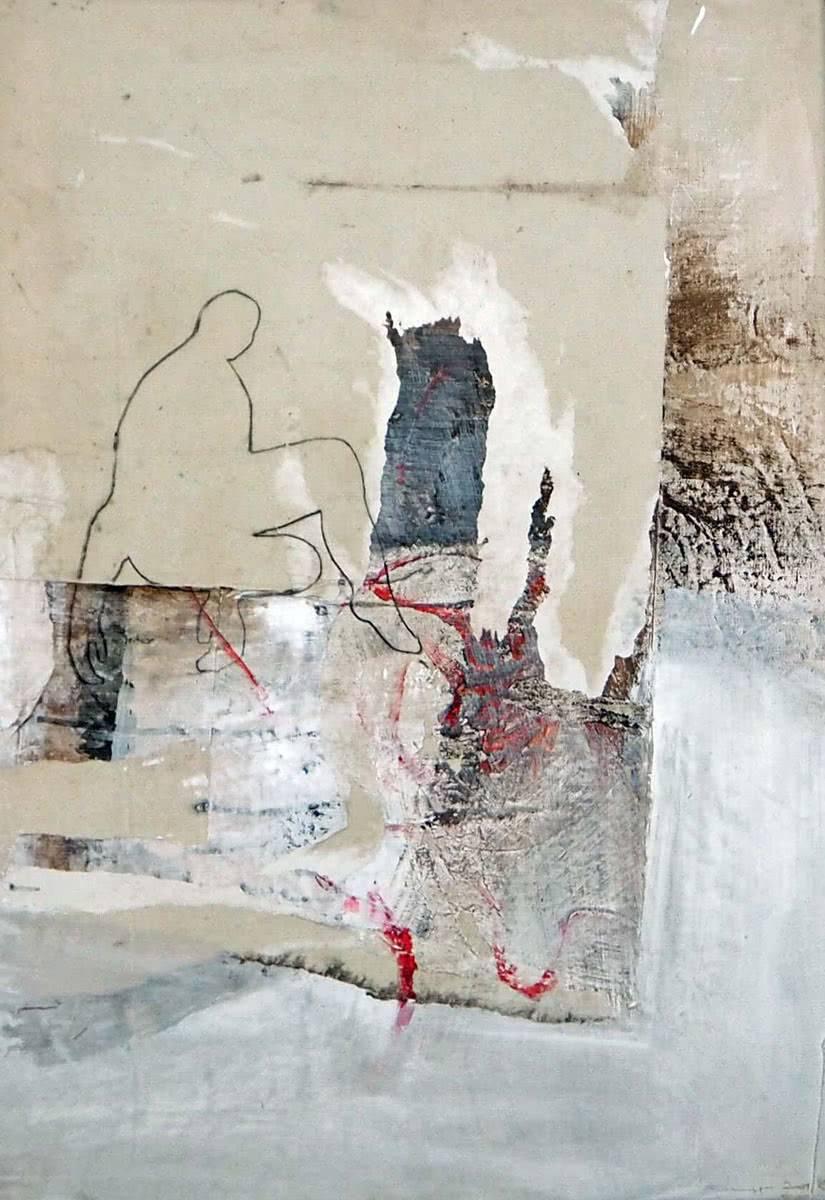 acryl auf leinwand 80 x 55 cm