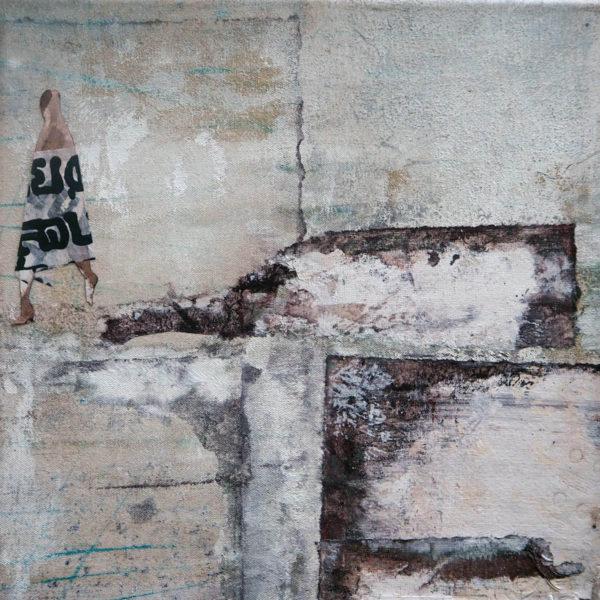 acryl auf leinwand - collage 30 x 30 cm