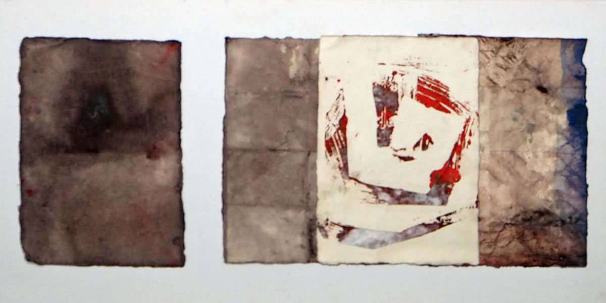 collage auf papier 30 x 60 cm
