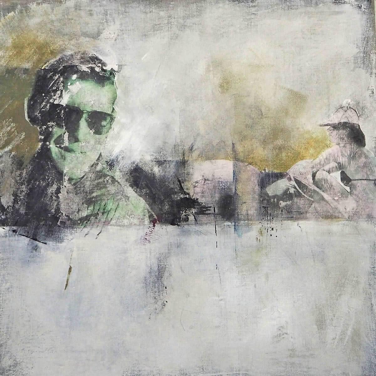 acryl auf leinwand 90 x 90 cm