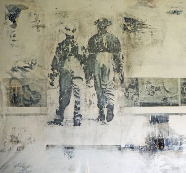 unterwegs in südafrika - acryl auf leinwand 130 x 140 cm