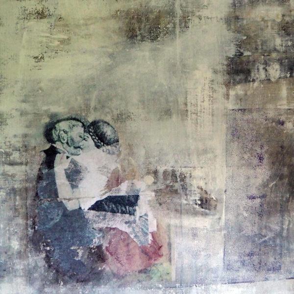 liebespaar - acryl auf leinwand - 60 x 60 cm