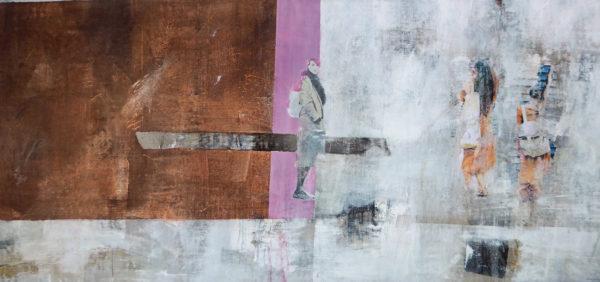 acryl auf leinwand 80 x 170 cm