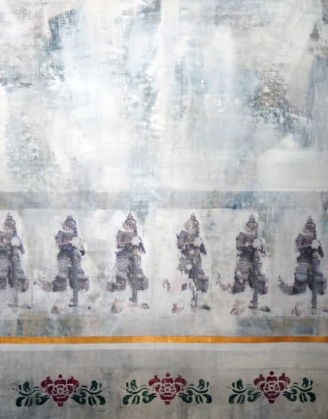 triptychon im Königspalast Bangkok - acryl auf leinwand 115 x 90 cm