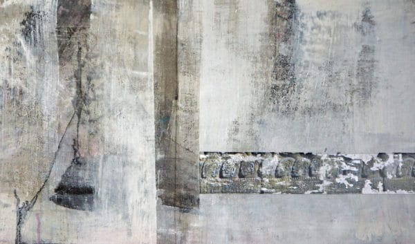 relief angkor wat - acryl auf leinwand 50 x 85 cm